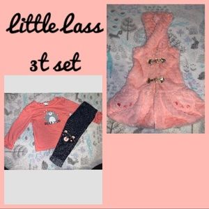 Little Lass 3t bear 3 piece set